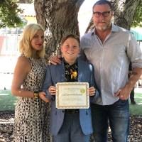 Graduating Celebrity Kids Liam McDermott Tori Spelling Dean