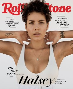Halsey Shows Underarm Hair Rolling Stone July 2019