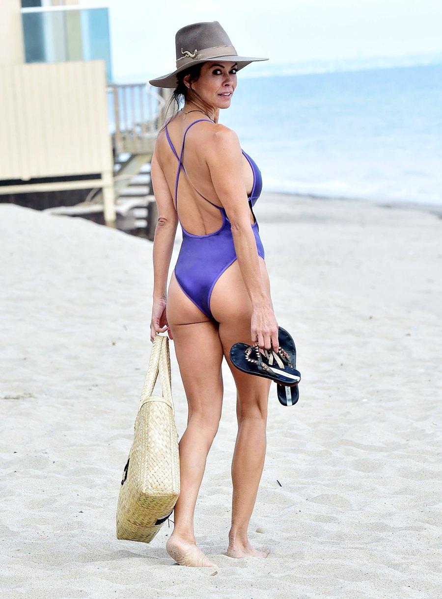 Hot Over 40 gallery Brooke Burke Purple Bathing Suit