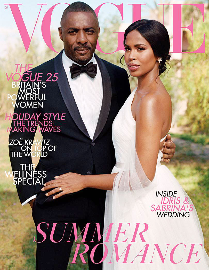 Idris Elba Sabrina Dhowre British Vogue Cover Wedding