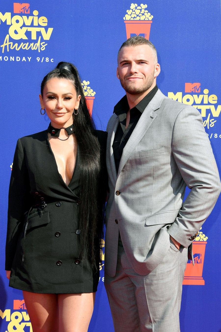 JWoww and BF Zac Make MTV Red Carpet Debut at Movie Awards Jenni Farley and Zack Clayton Carpinello