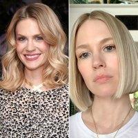 January Jones Celebrity Hair Transformations Bob Cut
