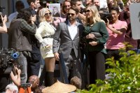 Jason Priestly, Tori Spelling and Jennie Garth BH90210 Filming TV Show