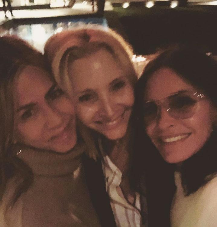 Jennifer Aniston, Lisa Kudrow, and Courteney Cox