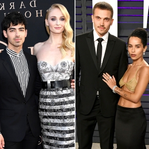 Joe Jonas Sophie Turner Zoe Kravitz Karl Glusman to Wed on the Same Day