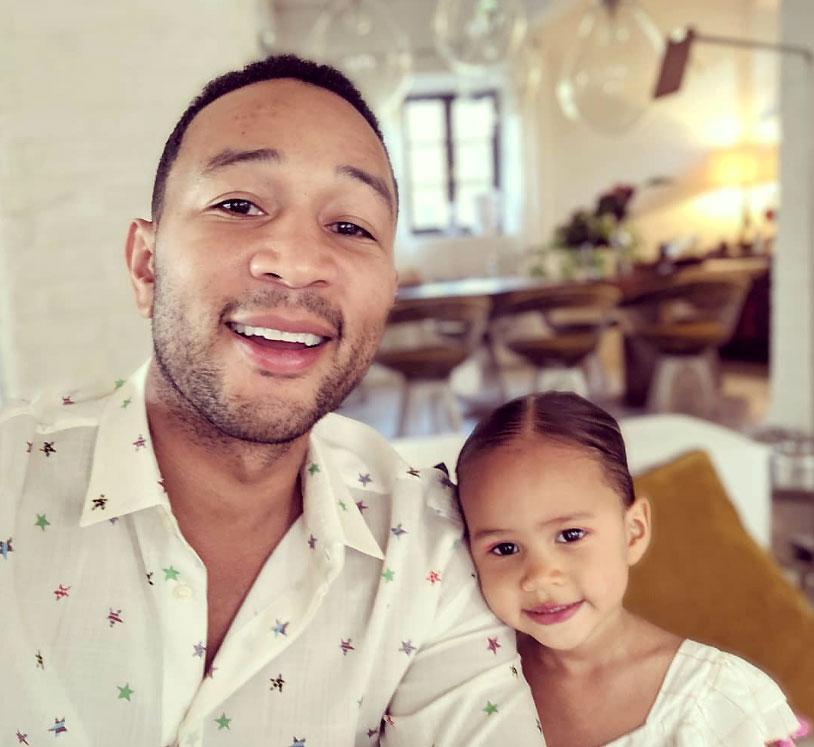 John Legend and Daughter Luna