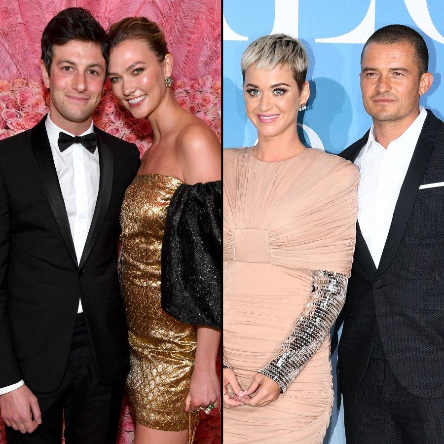 Joshua Kushner and Karlie Kloss Orlando Bloom and Katy Perry