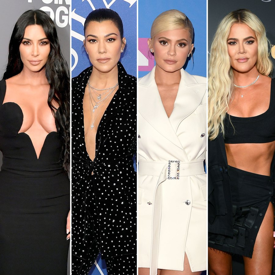 Kim Kardashian and Kourtney Kardashian and Kylie Jenner and Khloe Kardashian