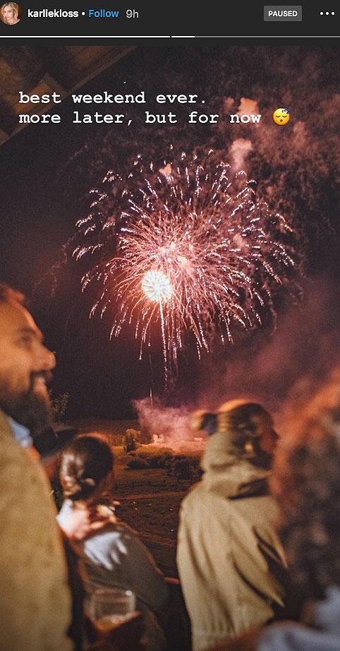 Karlie Kloss Fireworks