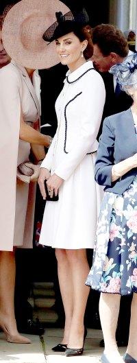 Kate Middleton White Coatdress June 17
