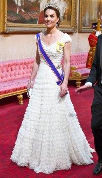 Kate Middleton White Gown State Dinner