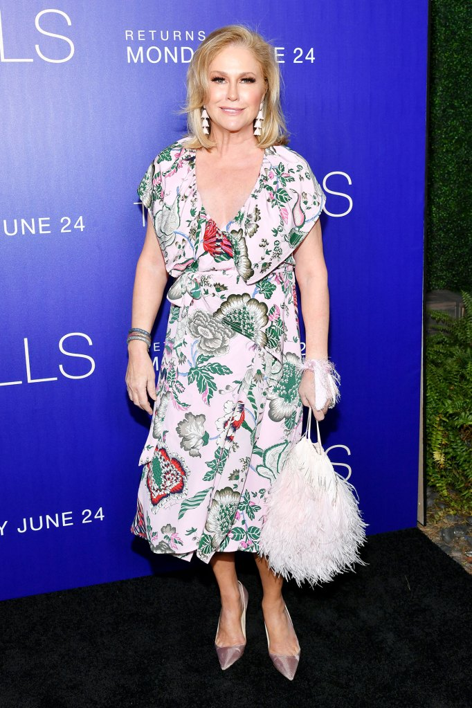 Kathy Hilton Hills New Beginnings Premiere Flower Dress