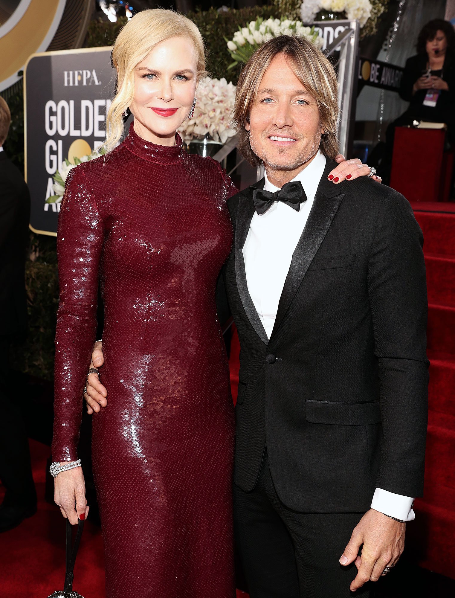 Nicole Kidman and Keith Urban arrive to the 2019 Golden Globe Awards Commemorate 13th Wedding Anniversary