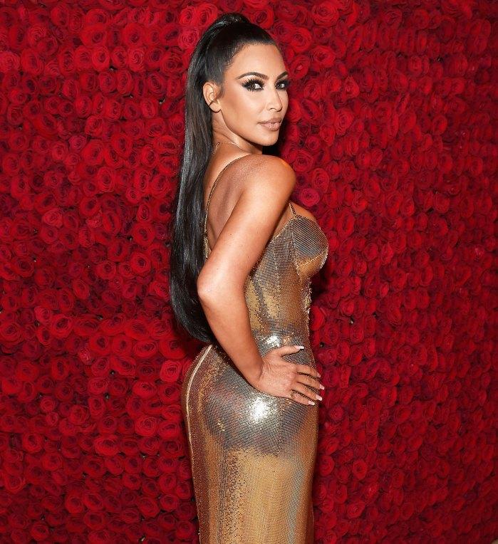 Kim Kardashian Gold Bustier Dress May
