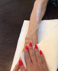 Kim Kardashian West Body Makeup Grandma MJ Instagram