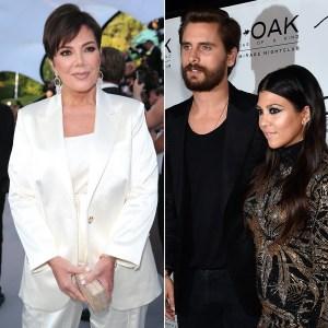Kris Jenner Worried Kourtney Kardashian Scott Disick Get Back Together