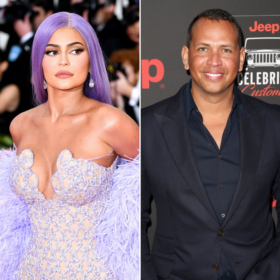 Kylie Jenner Wearing a Purple Wig and Outfit At Met Gala, Alex Rodriguez