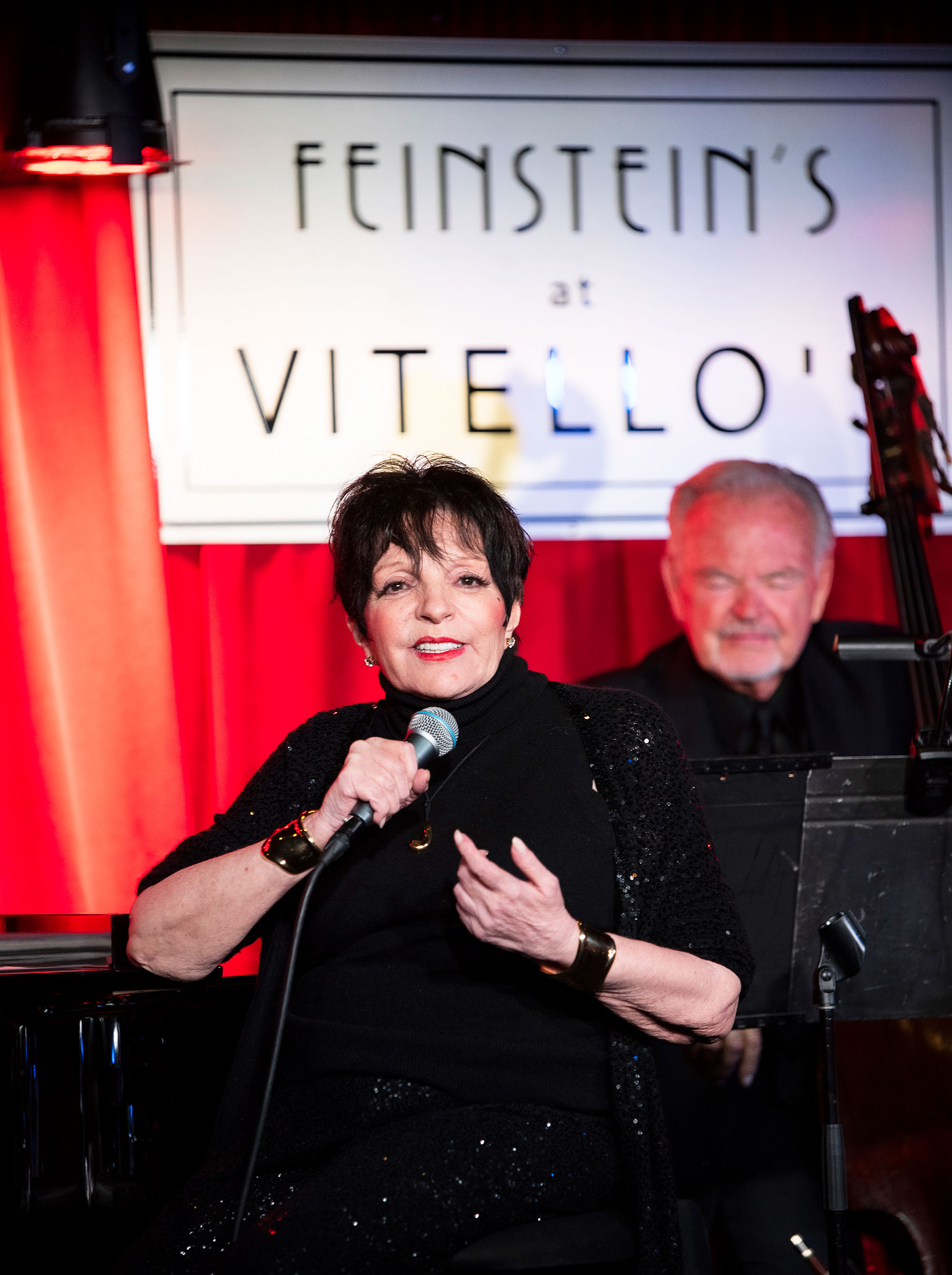 Liza Minnelli at the Grand Opening of Michael Feinstein's new supper club Feinstein's at Vitello's
