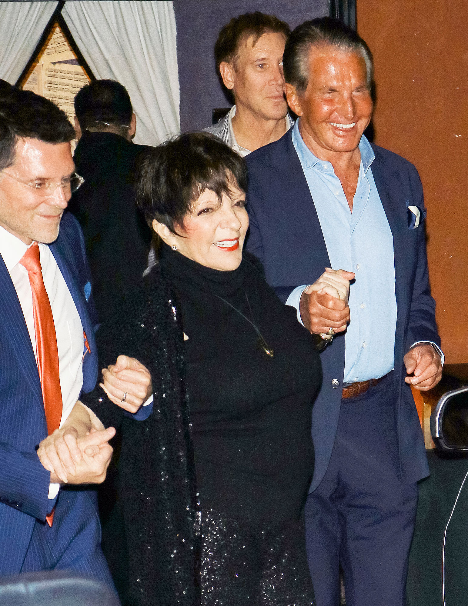 Liza Minnelli and George Hamilton outside Feinstein's at Vitello's in Studio City