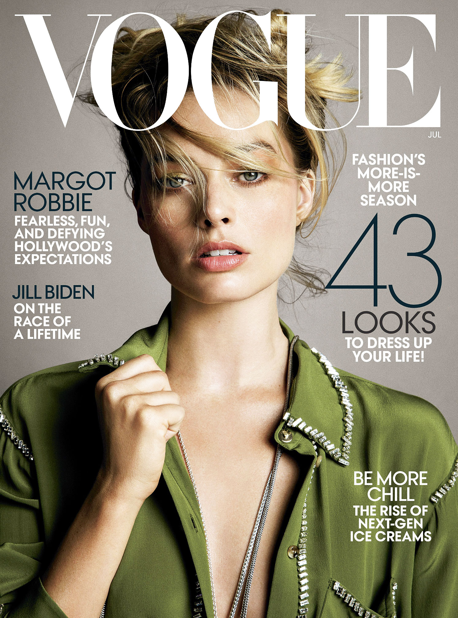 Margot Robbie Bombshell Vogue Cover