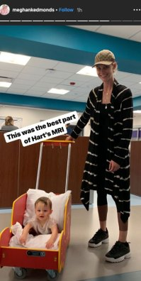 Meghan King Edmonds and Husband Jim Hold Son Hart at the Hospital Amid Cheating Scandal Instagram Story