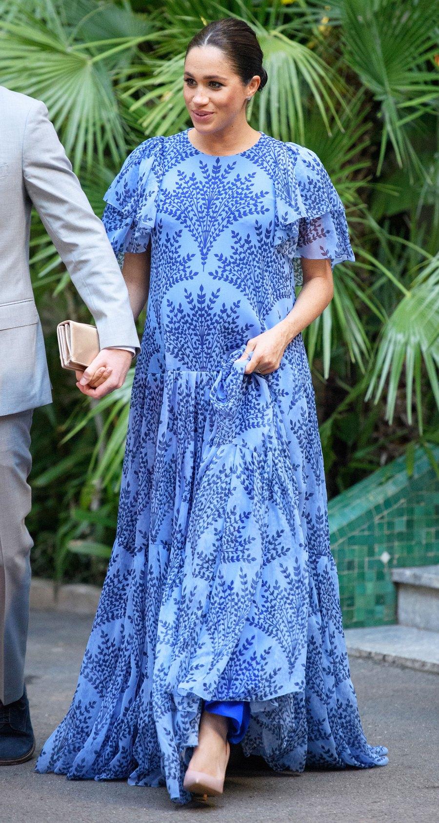 Meghan Markle Purple Maxi Dress