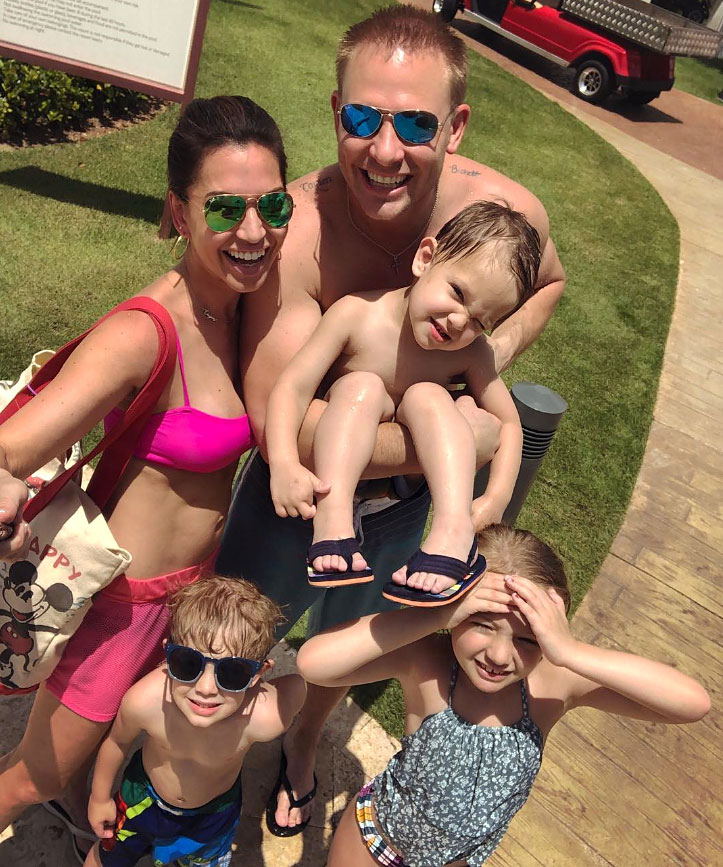 Melissa Rycroft and Tye Strickland and Family On Vacation In Nickelodeon Hotels Resorts Punta Cana Dominican Republic