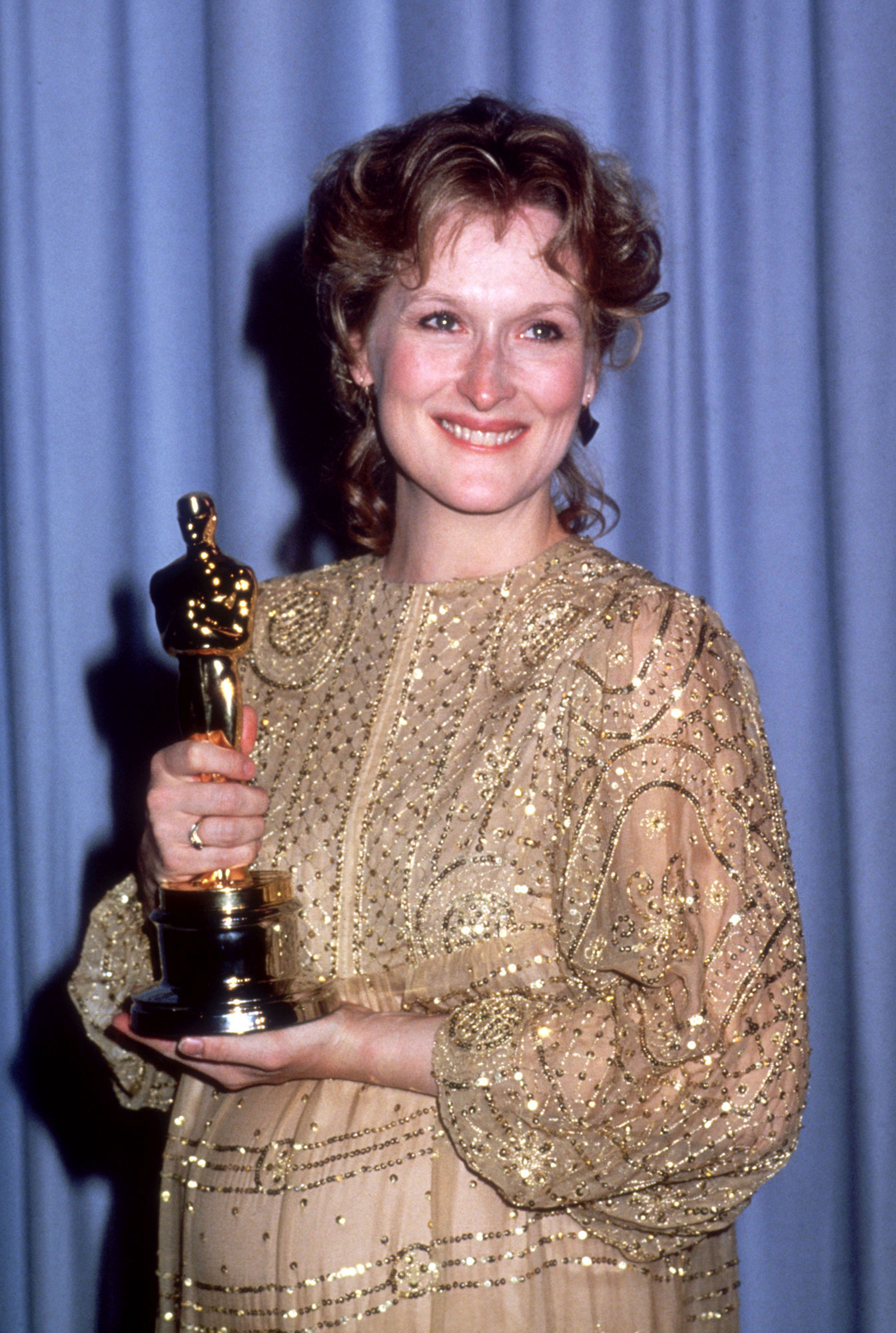 Meryl Streep 55th Academy Awards - The Big Little Lies star had to make more room in her trophy cabinet after the 55th Academy Awards, where she took home the Oscar for Best Actress for her role in 1982's drama Sophie's Choice. She accepted the honor while pregnant with her daughter Mamie Gummer.