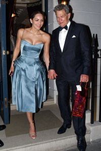 Newlyweds Katharine McPhee and David Foster Look Lucky in Love as They Step Out For Wedding Reception