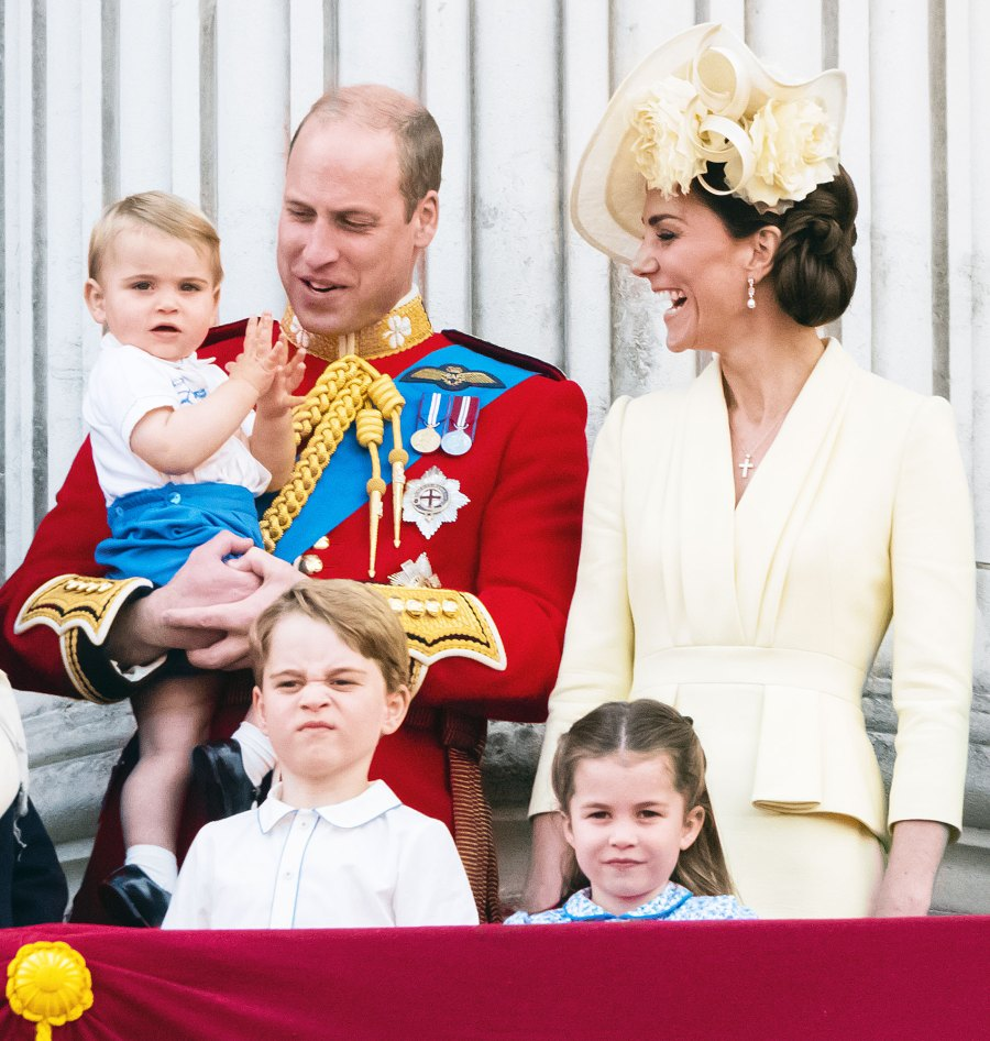 Prince George Princess Charlotte Prince Louis Prince William Duchess Kate at Trooping The Colour 2019 Prince George's Grumpiest Faces