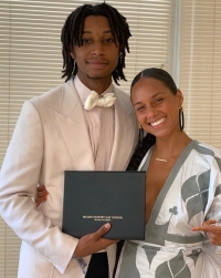 Prince-Nasir-Dean-Alicia-Keys-graduation