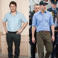 Prince William Chris Pratt Birthday Style Blue Button Down Shirt
