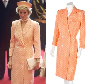 Princess Diana Dress Auction Peach Coatdress