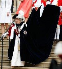 Queen Elizabeth Cape Dress June 17