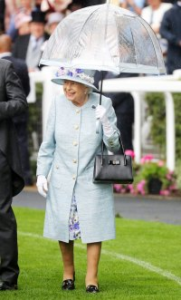 Queen Elizabeth Royal Ascot Blue Dress June 19