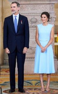 Queen Letizia Blue Cornflower Dress June 19