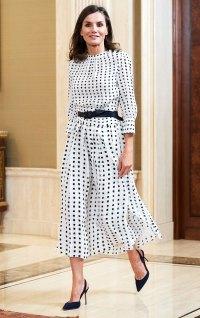 Queen Letizia Polka Dot Dress June 14th