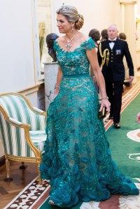 Queen Maxima Green Gown June 12th