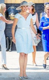 Queen Maxima Periwinkle Dress June 25, 2019