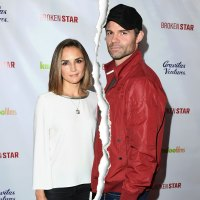 Rachael Leigh Cook and Daniel Gillies White Shirt and Red Jacket Black hat Split