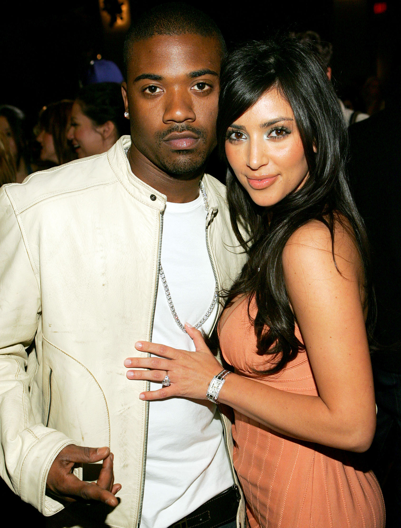 Ray J and Kim Kardashian attend Charlotte Ronson's 2006 Fall/Winter Fashion Show and After Party.