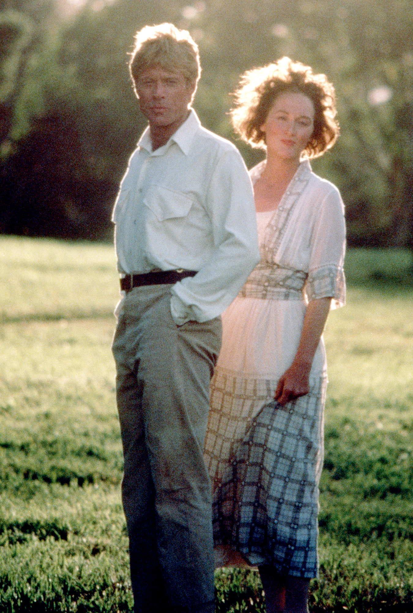 Robert Redford and Meryl Streep Out of Africa - The acclaimed actress perfected yet another foreign accent alongside Robert Redford in 1985's Out of Africa. She sported brunette locks for the role and captivated viewers onscreen.