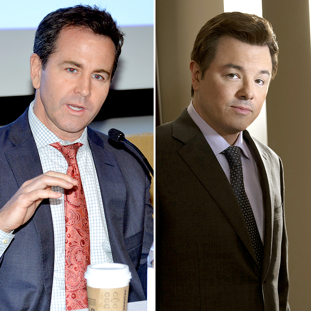 Seth-MacFarlane-as-Brian-Lewis - Comic Seth MacFarlane takes on Brian Lewis , Fox News' head of public relations for nearly 20 years.