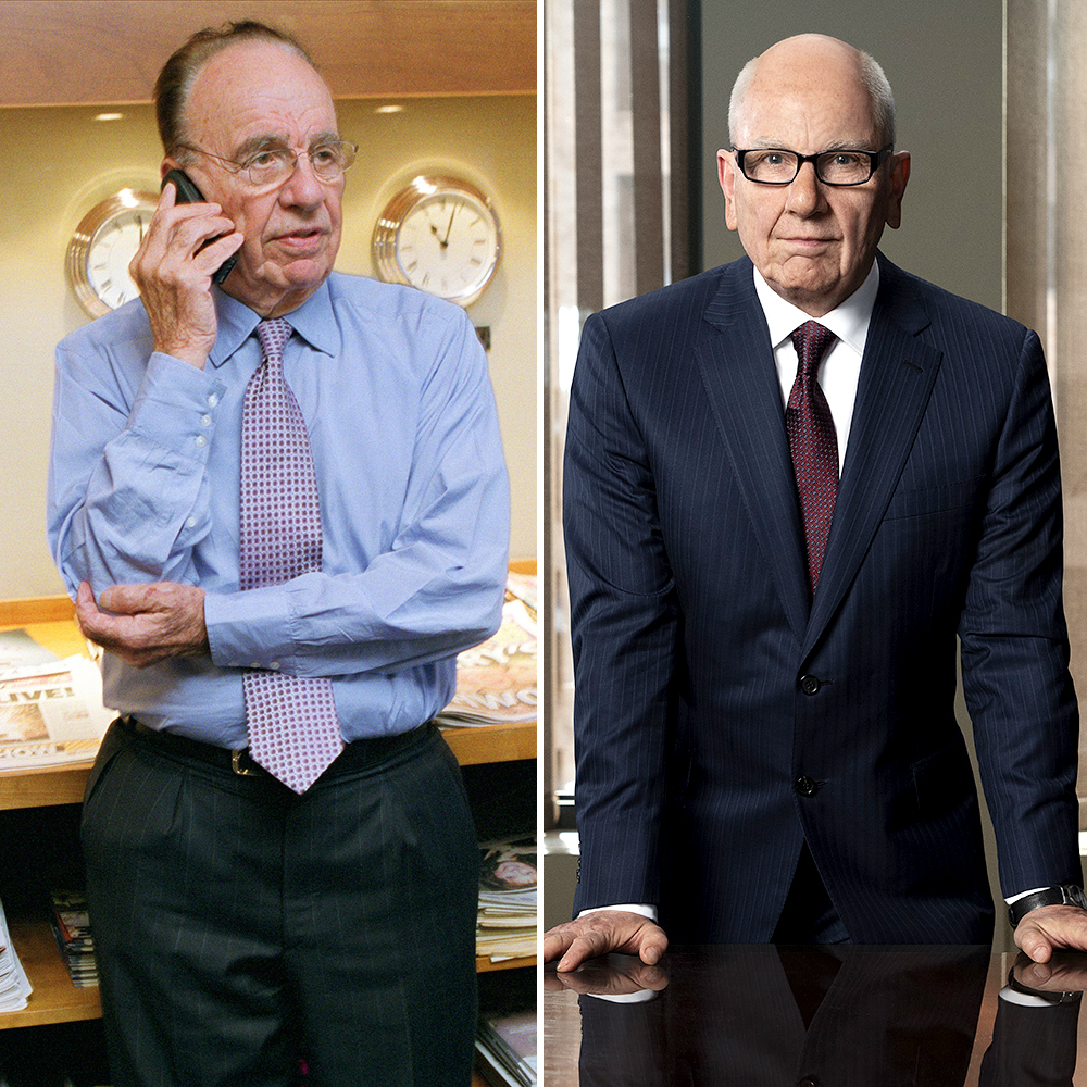 Simon-McBurney-as-Rupert-Murdoch - Simon McBurney plays News Corp Chairman Rupert Murdoch , who goes head to head with Ailes in the series.