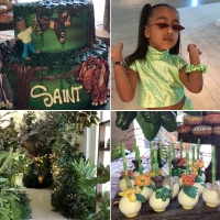 Tarzan North West Saint Reign Birthday Party Kardashians