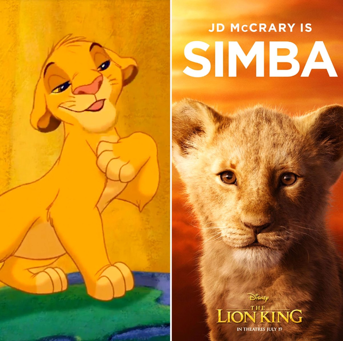 The Lion King Compare The Animated And Live Action Characters