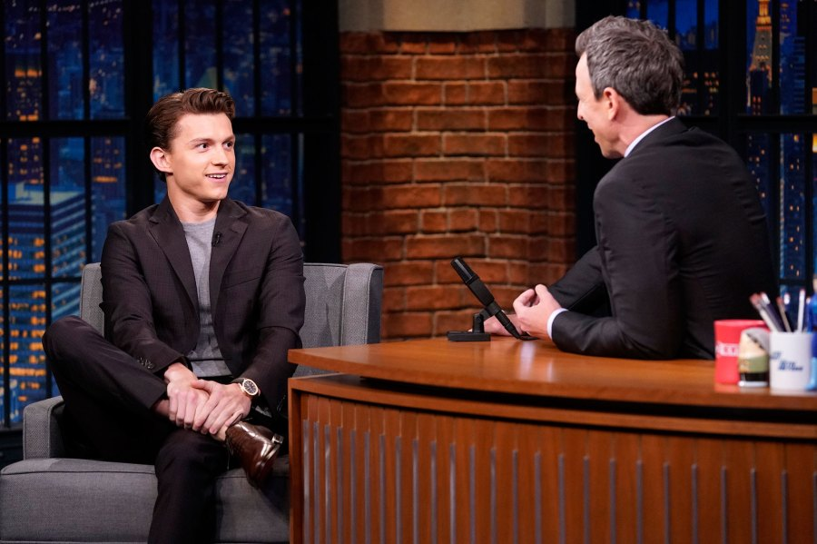Tom Holland and Seth Meyers on Late NIght