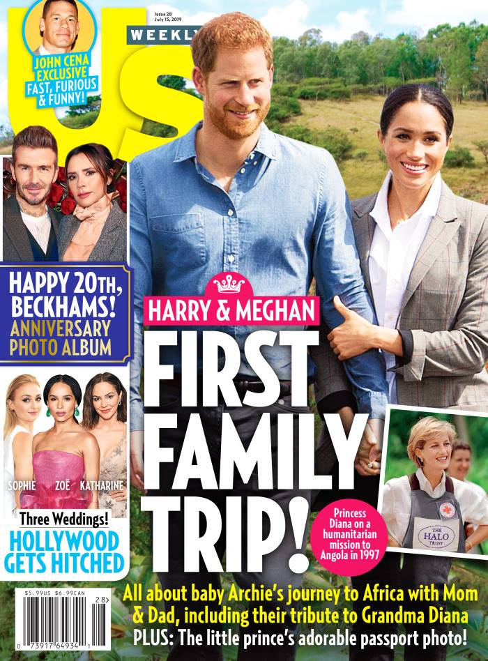 UW2819 Us Weekly Cover Prince William Duchess Meghan Family Trip Africa