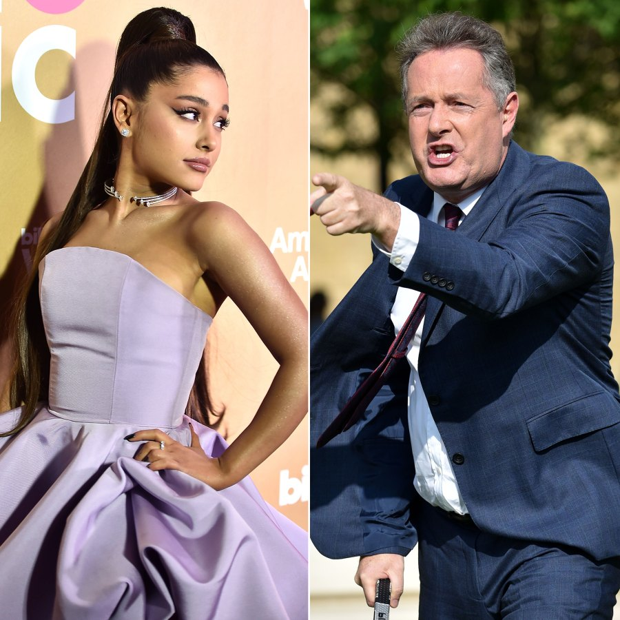 Unexpected Celebrity Feuds Ariana Grande Piers Morgan
