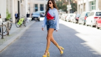 Woman Wearing Shorts